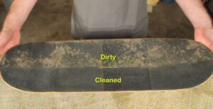 how to clean griptape on skateboards