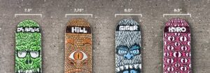 professional skateboarders deck sizes